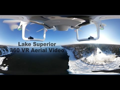 360 Aerial Video Superior Falls Wisconsin Michigan