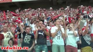 Суппорт фанатов Спартака на матче Спартак - Арсенал 4:0