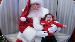 BABY MEETS SANTA FOR THE FIRST TIME!!! (GONE WRONG)