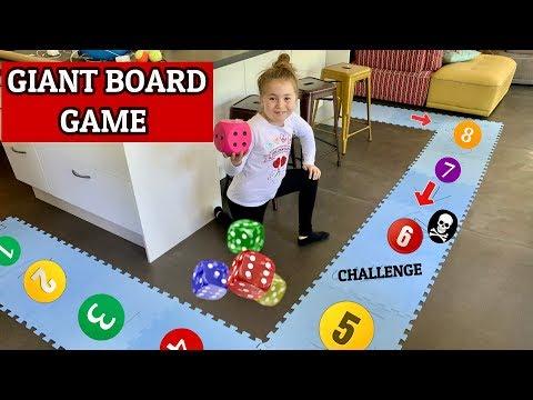 🎲 GIANT BOARD GAME CHALLENGE !! JEU DE L'OIE GEANT XXL