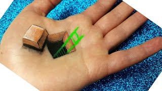 Hand Art 3D : Hole and A Scale Drawing