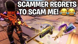 Scammer instantly REGRETS scamming me! 😂 (Scammer Get Scammed) Fortnite Save The World