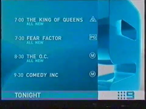 Channel Nine S Thursday Lineup And Christmas Ident December 2003
