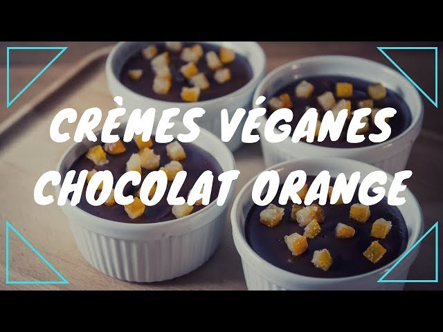 Crèmes véganes chocolat orange
