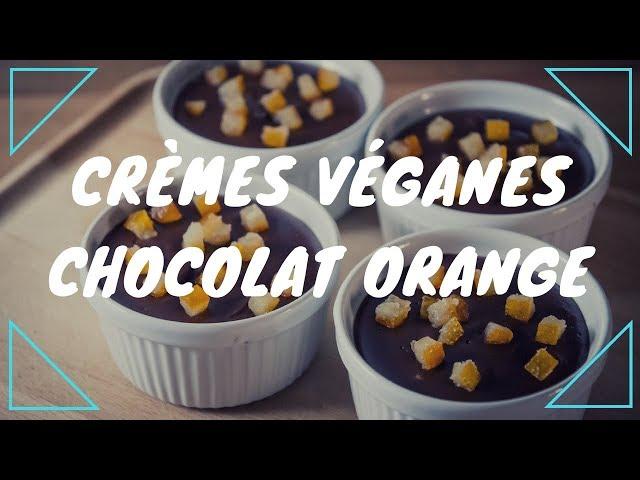 Crèmes véganes chocolat orange