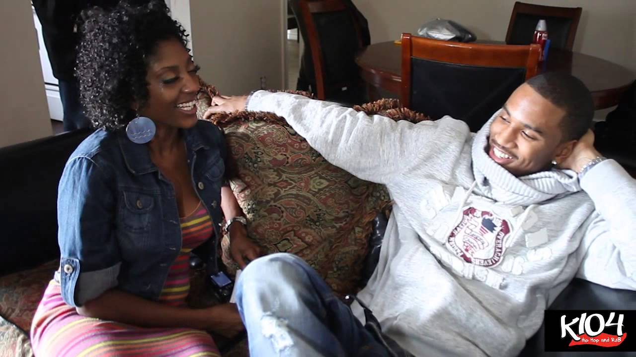 Trey Songz Visits A Lucky K104 Listener At Her Home Youtube