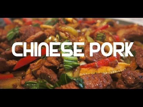 Chinese Pork Stir Fry Recipe – Chow Mein Noodles Choi Cabbage Ginger
