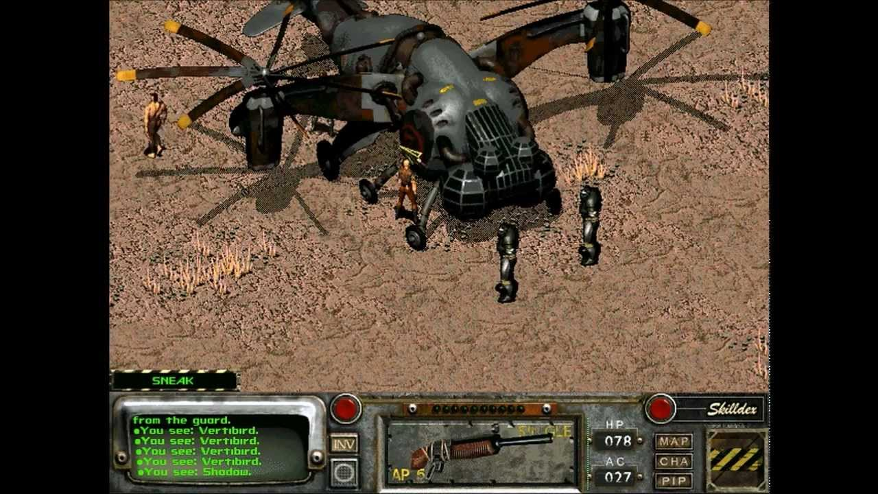 Let's Play Fallout 2: Restoration Project - 36 - Enclave Vertibirds!