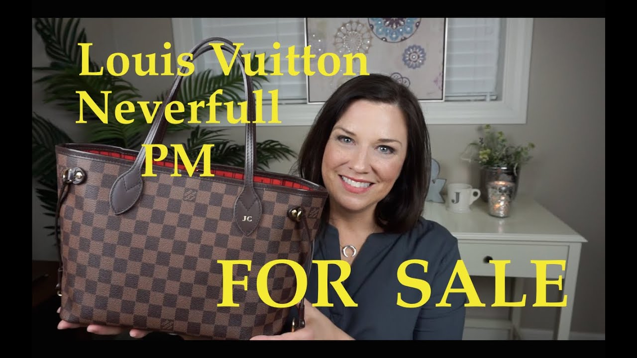 Selling my Louis Vuitton Neverfull PM   SOLD   - YouTube e8512c4a876ea