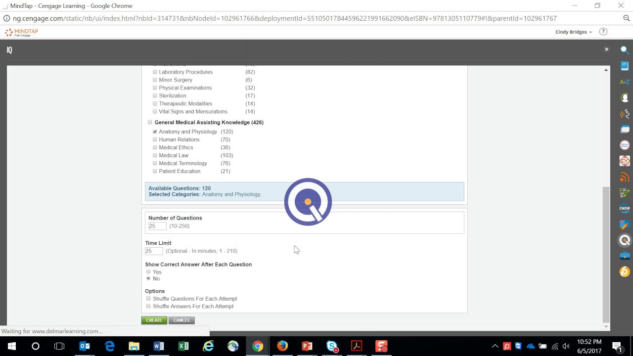 How to Create a Certification Style Assessment in MindTap - YouTube