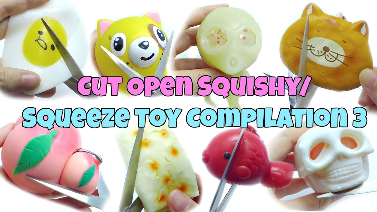 Cut Open Squishy / Squeeze Toy Compilation 3 [ASMR Edition] - YouTube