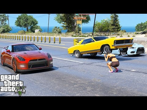 ANOTHER DAY AT WORK #11 | GTA 5 REAL LIFE MOD | NISSAN GTR | DRAG RACING