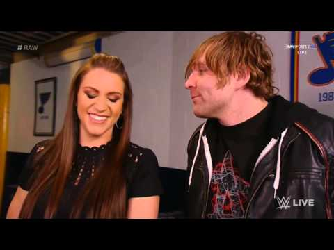 Stephanie McMahon & Dean Ambrose Backstage thumbnail