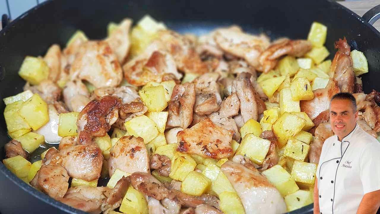 El sabor de las patatas en esta receta de pollo frito es BRUTAL ¡COMPRUEBALO!