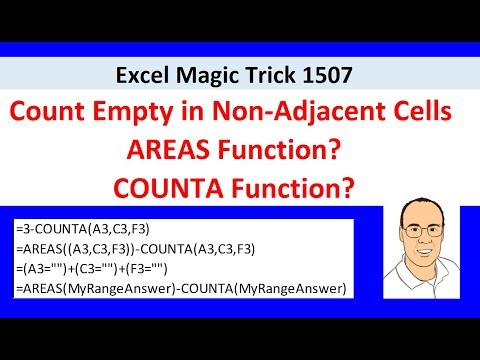 Excel Magic Trick 1507: Count Empty in Non-Adjacent Cells (5 Examples) AREAS Function?