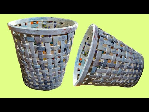 How To Make DIY  Decorative Paper Basket with News paper | Best out of waste | Newspaper Craft Ideas