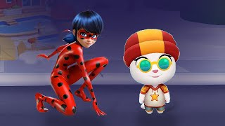Who can win? miraculous ladybug vs my talking angela skater ?
