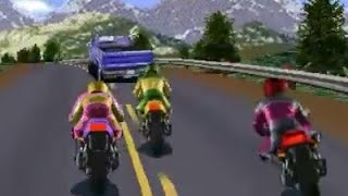 Road Rash: All Level Game-play [Big Game Mode: Level 1 to 5!]