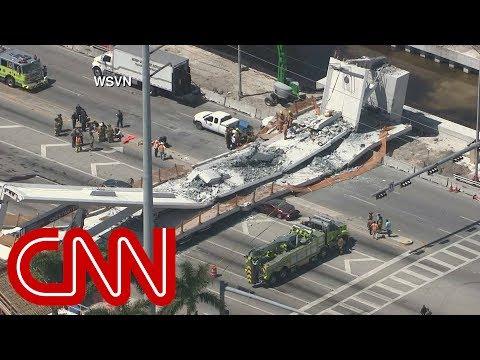 Pedestrian bridge at Florida International University collapses