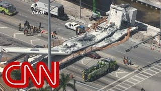 Pedestrian bridge at Florida International University collapses thumbnail