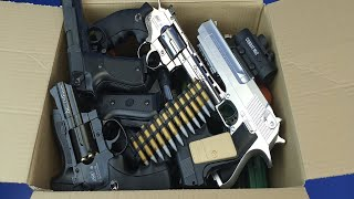 Box of Gun Toys  Military,Police,Cowboy Gun Toys