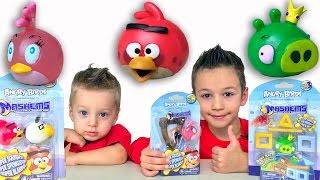 Angry Birds Mashems и Наш Мультик Энгри Бердс Видео для детей Игрушки Энгри Бердс Играем игрушками