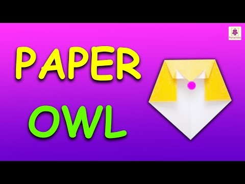 Learn How To Make Origami Owl | DIY Paper Owl For Kids | Periwinkle