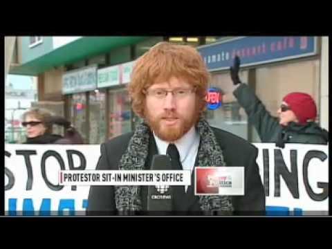 Jim Prentice Office Occupation (CBC TV)