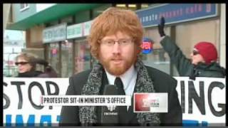 Jim Prentice Office Occupation (CBC TV)