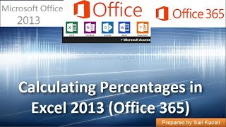 calculating percentages in excel 2013 office 365 part 9 of 18
