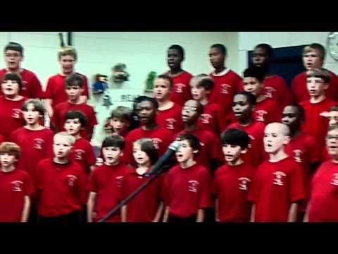 Hammond Hill Elementary School pupils sing