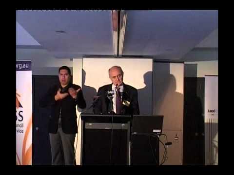 Allan Fels at VCOSS Taxi Forum - pt 1