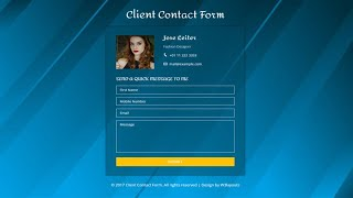 ASP.Net MVC #20 : Create Contact Form Flat Responsive Step by Step | FoxLearn