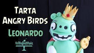 Tarta Angry Birds. Leonardo