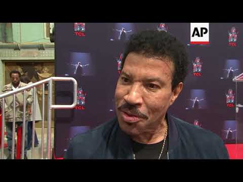 Lionel Richie gets hand- and footprints in cement at TCL Chinese Theatre in Hollywood