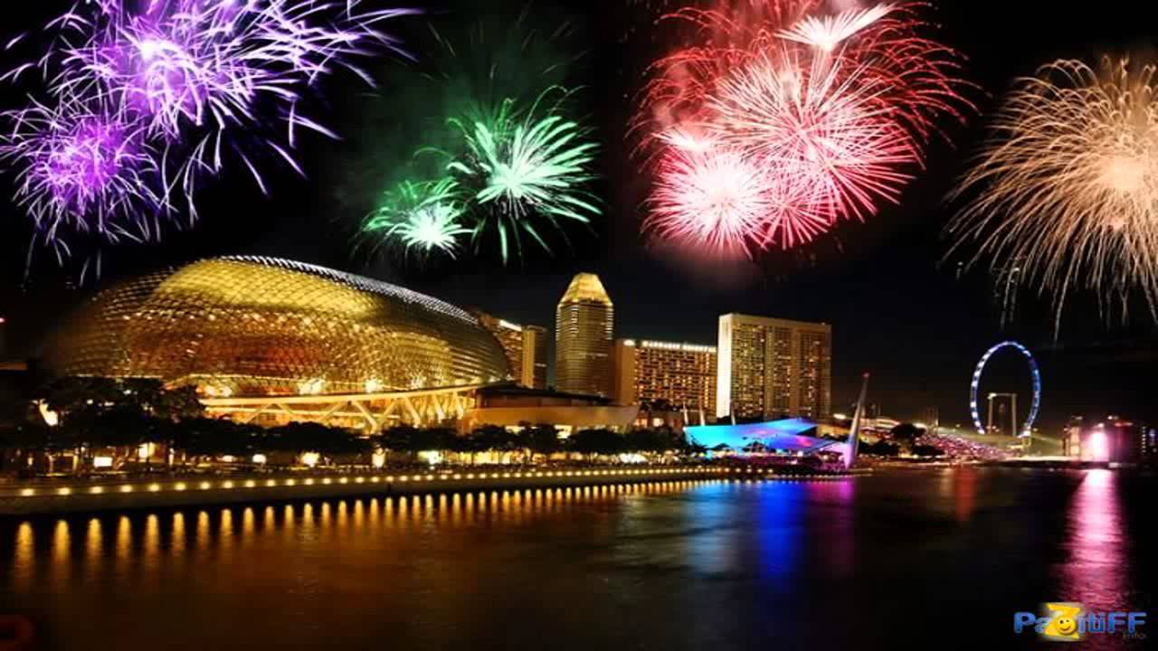 singapore new years eve fireworks 2015 on marina bay youtube