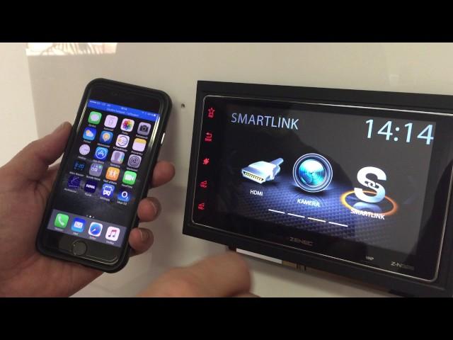 Jak připojit telefon s iPhone Apple iOS k Smartlink