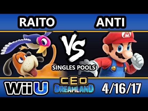CEO Dreamland 2017 Smash 4 - Raito (Duck Hunt) Vs. IMT   ANTi (Cloud/Mario) SSB4 Pools