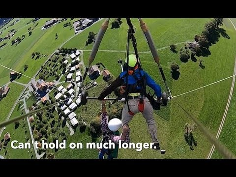 Angela - VIRAL: Hang glider clings for life,harness not attached