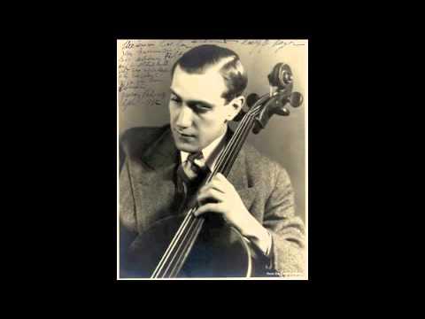 Shostakovich Cello Sonata op.40 - Gregor Piatigorsky & Valentin Pavlovsky (1940)