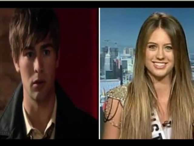 Gossip Girl 2012 - 2013 Chace Crawford and Jesinta Campbell Miss Universe Australia 2010