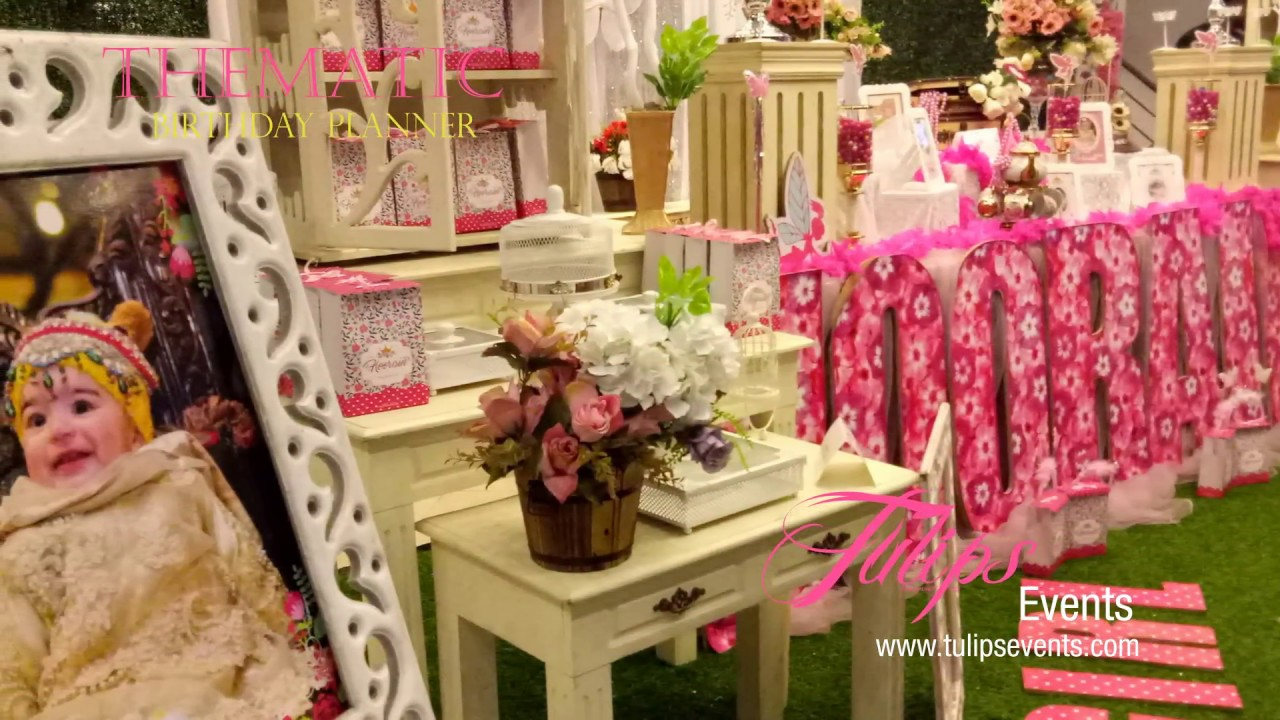 Fairy Garden Birthday Party Flower Decor ideas in Pakistan YouTube
