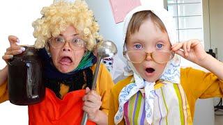 Настя и забавная история - салон красоты и платье для детей
