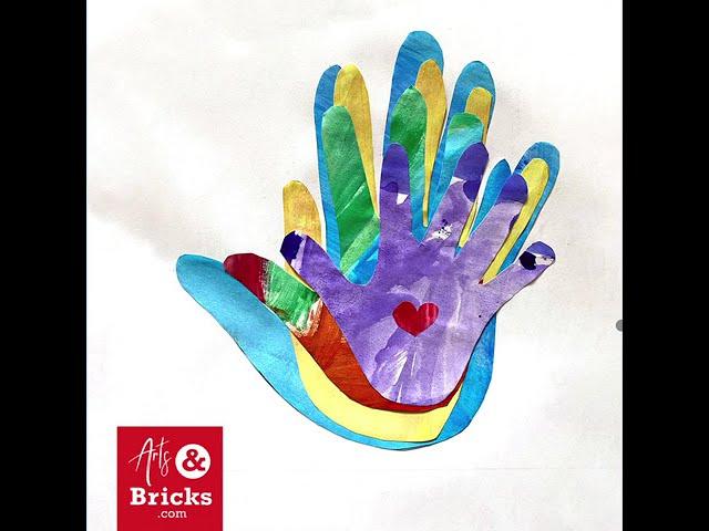Family Handprint Art for Quarantine 2020 - Window Keepsake