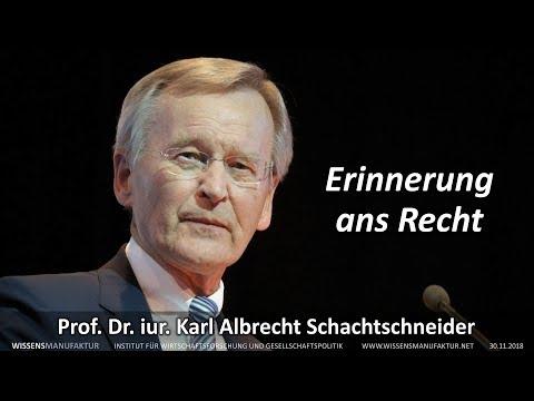 Erinnerung ans Recht - Prof. Dr. iur. Karl Albrecht Schachtschneider