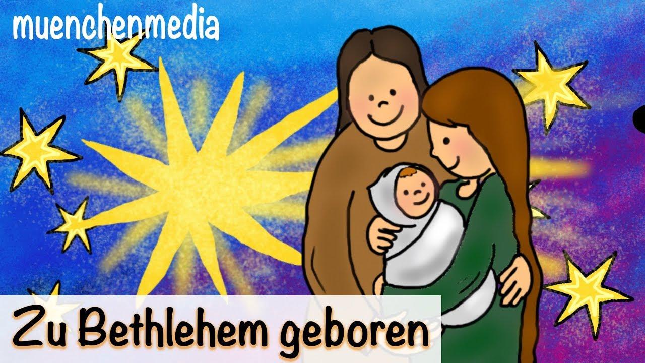 ⭐ Zu Bethlehem geboren - Weihnachtslieder deutsch | Kinderlieder ...