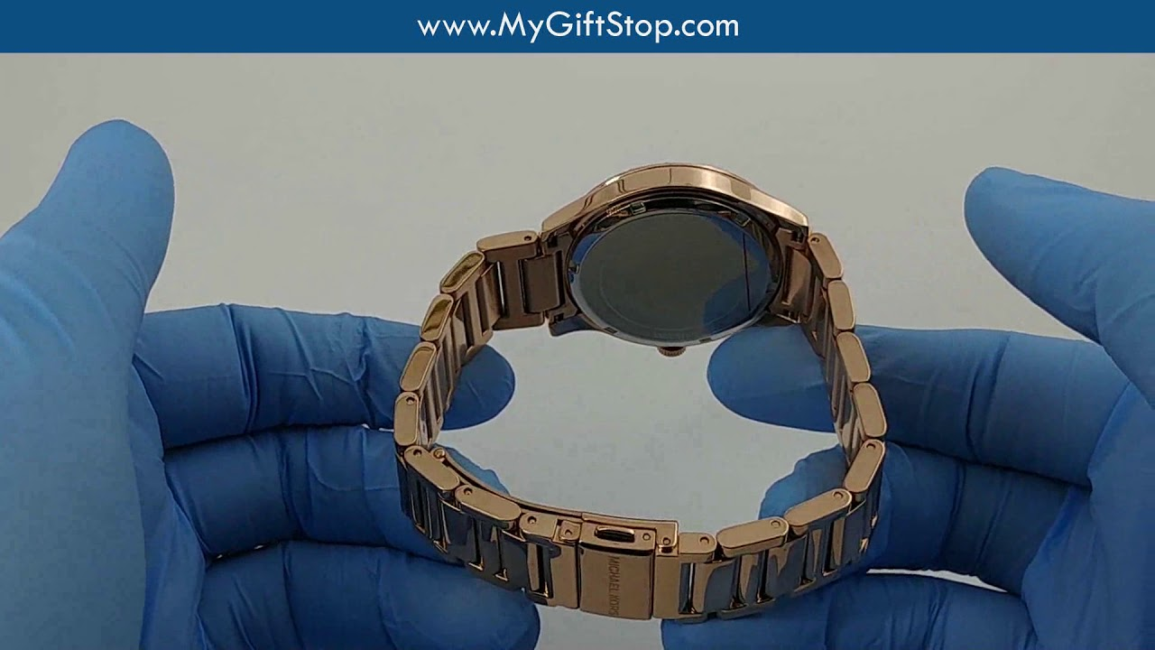 453c24169bce Michael Kors MK3809 Bailey Rose Gold Steel Women s Watch Video - YouTube