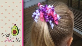 How to Make a Curly Ribbon Hair Bow! Easy DIY Girl Hair Bow Craft Tutorial! Add Hello Kitty ribbon!(Watch Silly AVAcado help her mommy make this simple DIY craft tutorial showing how to make curly hair bows! Curly hair bows (also called korker hair bows) ..., 2015-05-16T19:06:18.000Z)