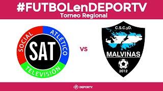#FUTBOLenDEPORTV - Torneo Federal Regional Amateur: Malvinas vs. Social Atlético Televisión