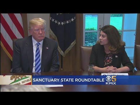 President Trump Criticizes California Sanctuary City Police, Oakland Mayor At Roundtable